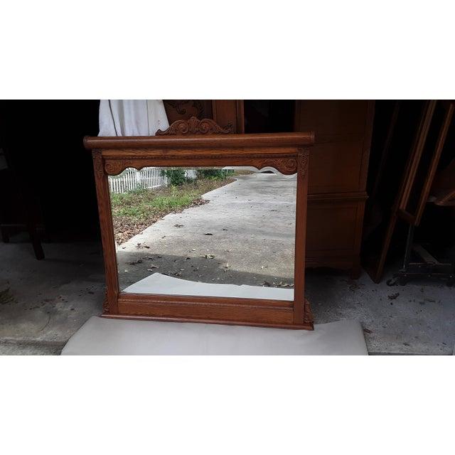 Brown Lexington Victorian Sampler Mirror Landscape For Sale - Image 8 of 8