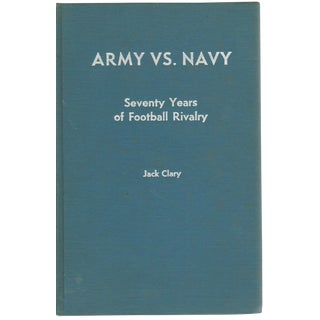 "1965 ""Army vs. Navy: Seventy Years of Football Rivalry"" Collectible Book For Sale"