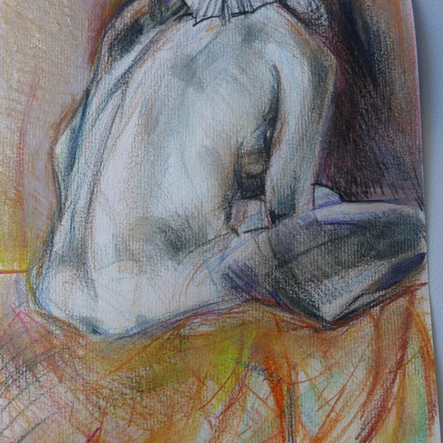 Thinking of You, Pastel on Paper Drawing - Image 4 of 4
