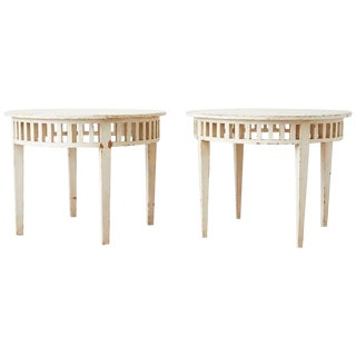 Pair of Richard Mulligan Distressed Centre or Side Tables For Sale