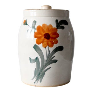 Vintage Floral Cookie Jar For Sale