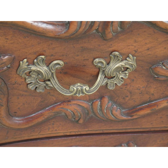 Wood John Widdicomb French Louis XV Style Carved 2 Drawer Chest For Sale - Image 7 of 11
