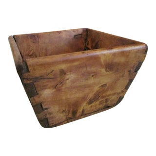 1700s Primitive Burl Cherry Canted Dovetailed Apple Berry Box For Sale