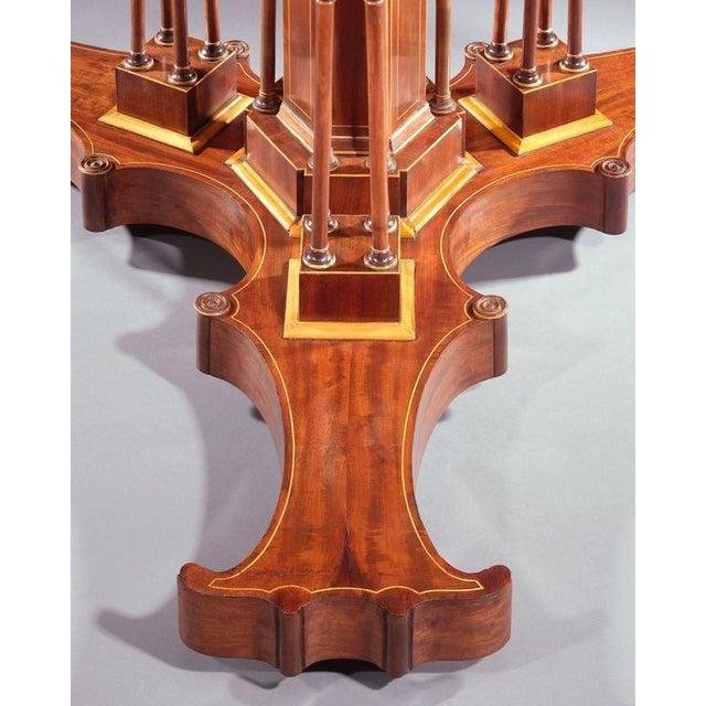 Mahogany Drum Table by Alphonse Giroux et Cie For Sale - Image 4 of 5