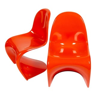 Orange Verner Panton S-Chair For Sale