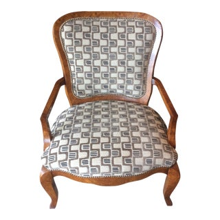 William Switzer Occasional Chair in Lee Jofa Fabric - Item Graphic Velvet - Color Mind For Sale