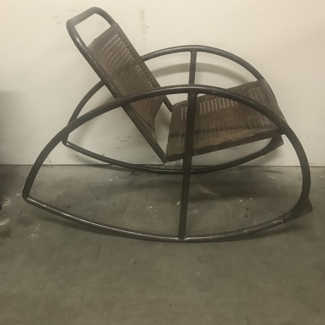 Mid-Century Modern 1950s Vintage Metal Porch Rockers- a Pair For Sale - Image 3 of 6