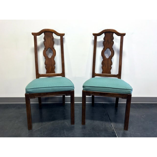 THOMASVILLE Mystique Asian Chinoiserie Dining Side Chairs - Pair 1 For Sale - Image 13 of 13