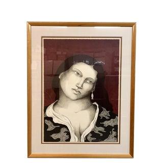 "Miguel Martinez ""Dona Elena"" Ltd. Edition Lithograph 22/100 Lithograph For Sale"