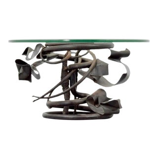 1990s Brutalist Albert Paley Coffee Table For Sale