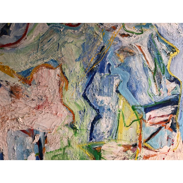 Abstract Fabulous Heavy Impasto Abstract by Thomas Koether For Sale - Image 3 of 8