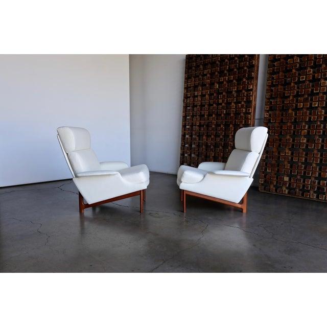 "Mid-Century Modern Ib Kofod-Larsen ""Adam"" Lounge Chairs for Mogens Kold Møbelfabrik Circa 1960 - a Pair For Sale - Image 3 of 13"