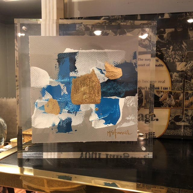 Original Art Floating in Lucite For Sale - Image 10 of 13