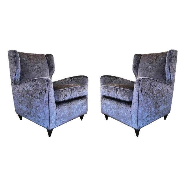 Pair of Mid-Century Italian Club Chairs For Sale