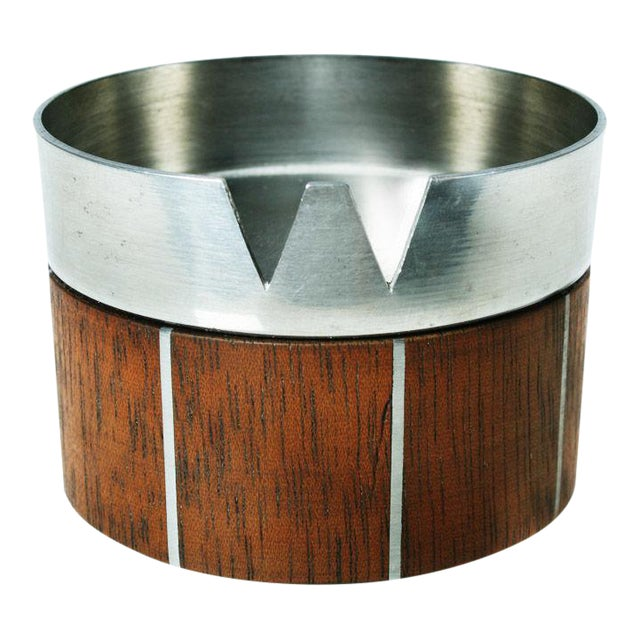 Walnut and Pewter Ashtray by Paul Evans For Sale