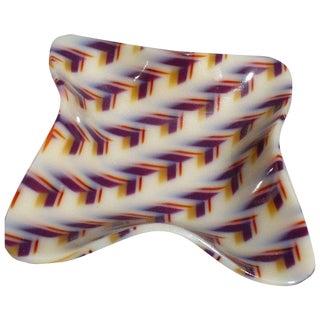 Mid-Century Geometric Acrylic Dish For Sale