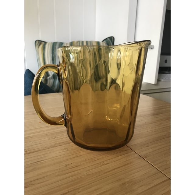 Indiana Glass Amber Glass Pitcher - Image 5 of 5