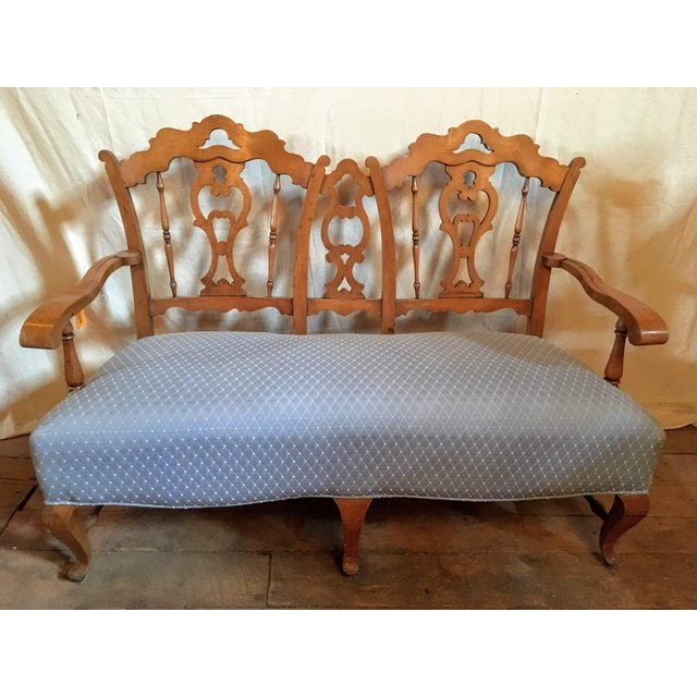 French Country Early 20th Century Vintage French Country Settee For Sale - Image 3 of 6