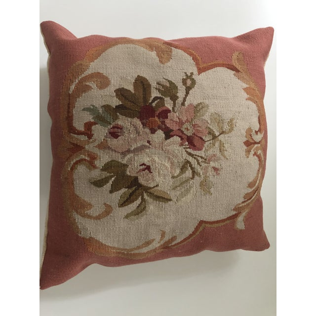 1980s 1980s Italian Aubusson Style Pillow For Sale - Image 5 of 5