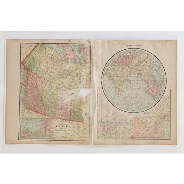 1900s Cram's 1907 Map of North America For Sale - Image 5 of 9
