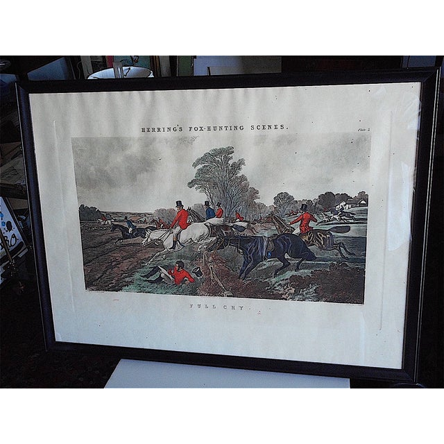Antique Fox Hunting Engraving - Image 2 of 5