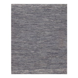 "Pasargad N Y Genuine Indo Denim Reversible Hand Woven Rug - 6′ × 8′11"" For Sale"