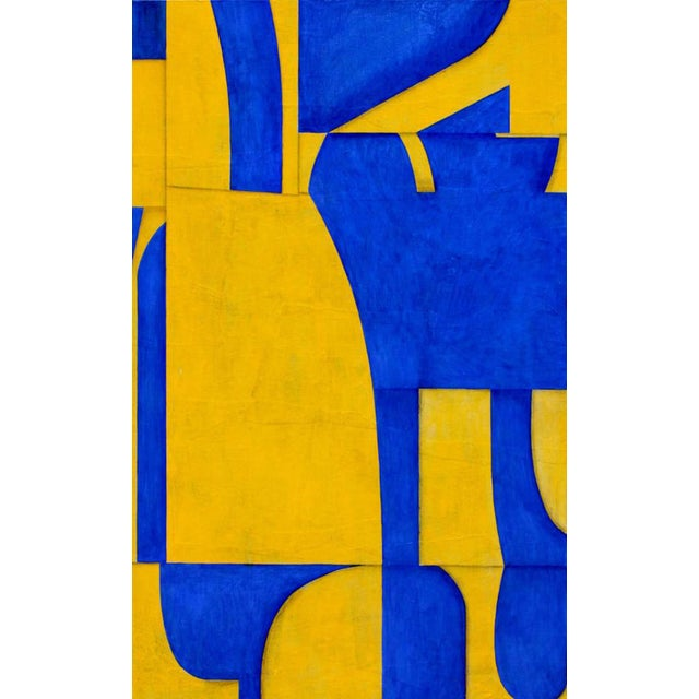 """Cecil Touchon """"pdp #653"""" Abstract Blue & Yellow Painting on Panel For Sale In West Palm - Image 6 of 6"""