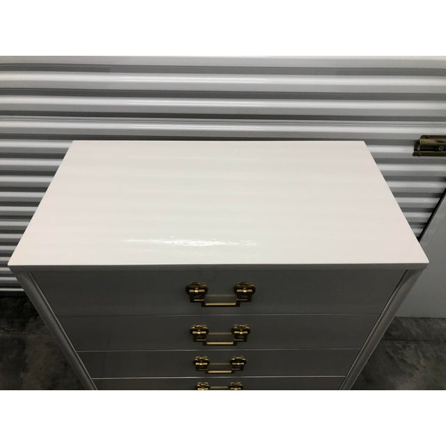 Chinoiserie Style Ribbon Mahogany High Gloss Dresser by Landstrom Furniture For Sale In Chicago - Image 6 of 10