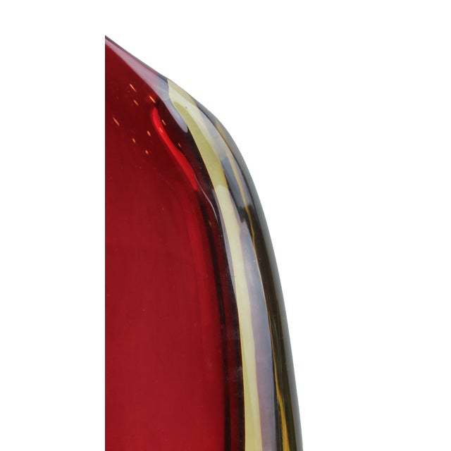 Modern Pasargad DC Murano Somerso Art Glass Vase For Sale - Image 3 of 5