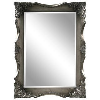 Danielle Solid Wood Silver Wall Mirror For Sale