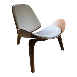 Hans J. Wegner Shell Chair CHo7 Mid-Century Scandinavian Modern Bent Wood Chair
