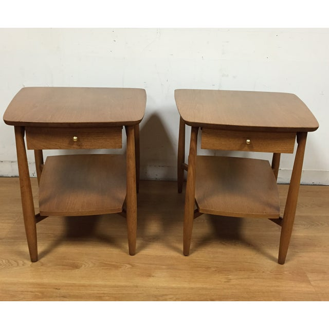Bleached Walnut End Tables - A Pair - Image 2 of 5