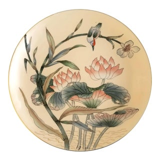 Toyo Japanese Bird and Floral Porcelain Plate Platter For Sale