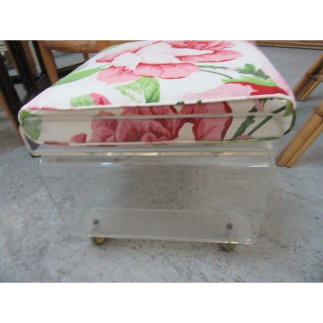 Pagoda Lucite Bench Stool - Image 4 of 6