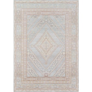 "Momeni Isabella Ranbir Blue 5'3"" X 7'3"" Area Rug For Sale"