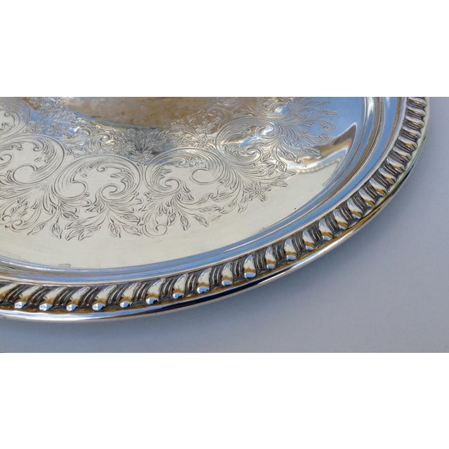 Large Silver Plate Round Platter Trays -Set of 3 - Image 8 of 11