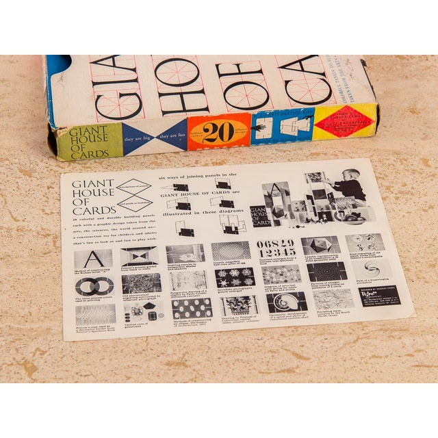 Charles and Ray Eames Original 1950s Eames Giant House of Cards For Sale - Image 4 of 10