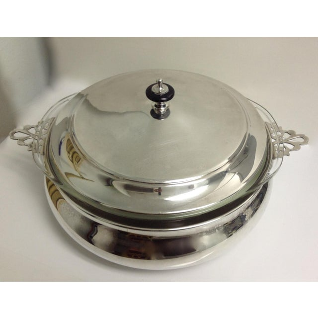 American Classical Silver Plate Lidded Chapin Dish Server Bowl - 3 Pieces For Sale - Image 3 of 10