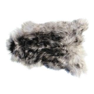 Modern Genuine Icelandic Sheepskin Shade of Black Rug Throw- 2′ × 3′