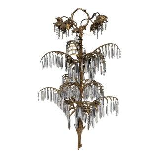 """Antique 19th Century Art Nouveau Gilt Bronze Original """"Palm"""" Chandelier by Josef Hoffmann For Sale"""