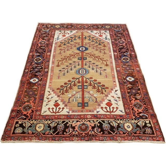 """Textile Antique Serapi Bakhshayesh Rug-4'6x6'6"""" For Sale - Image 7 of 12"""