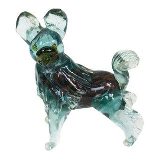 1970s Murano Venetian Glass Dog For Sale