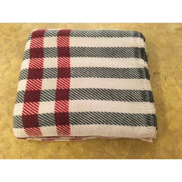 Black & Red Plaid Cashmere Blanket - Image 8 of 8