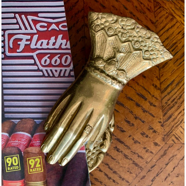 Vintage Brass Hand Paper Clip For Sale - Image 4 of 8