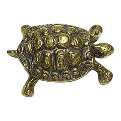 Antique Brass Turtle Paper Weight