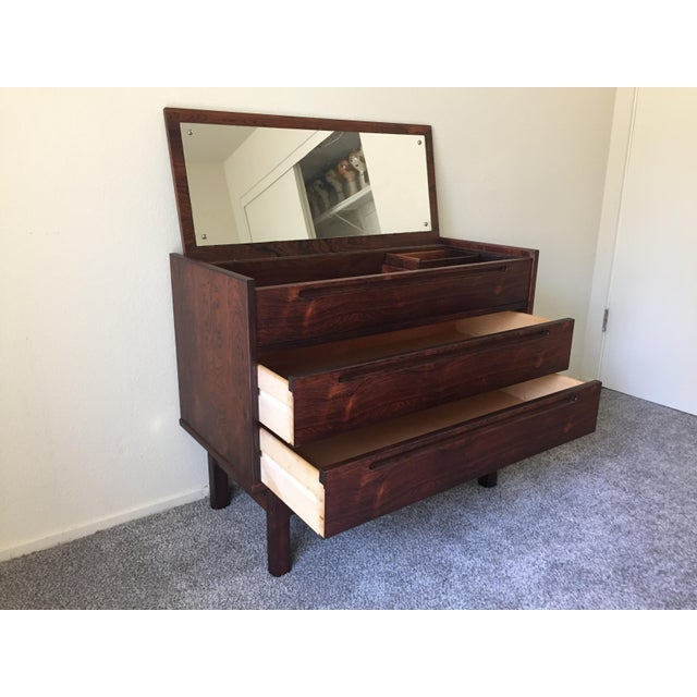 Nils Johnsson Danish Rosewood Mid-Century Modern Vanity Dresser For Sale In Los Angeles - Image 6 of 11