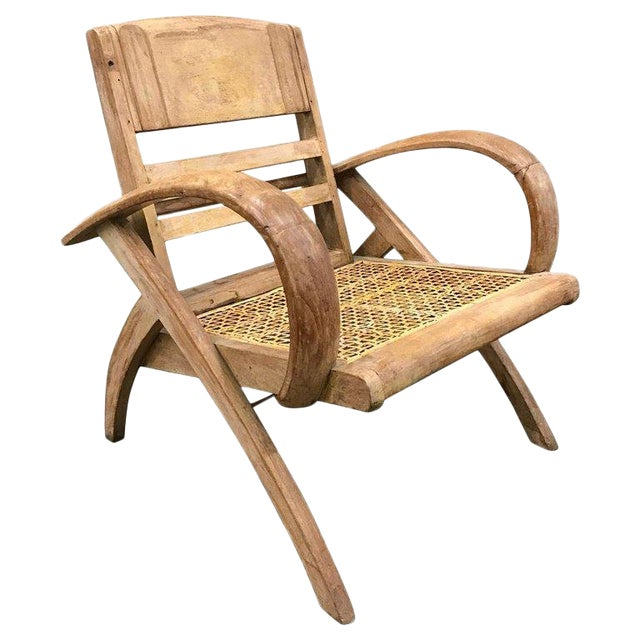 1950s Cerused Lounge Chair Attributed to Rene Gabriel For Sale