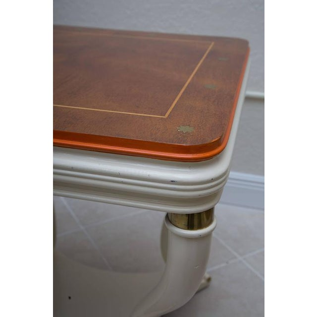 Pair of White Painted Empire Style End Tables - Image 2 of 7