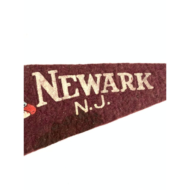 Vintage New York & New Jersey Pennant Flags - Set of 3 For Sale In Los Angeles - Image 6 of 7