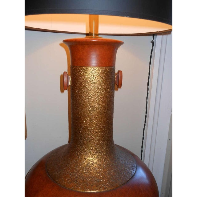 Sensational, Large Scale Pair of Ceramic Lamps - Image 4 of 7